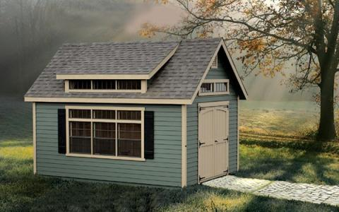 Manor Shed With 3 T Dormer